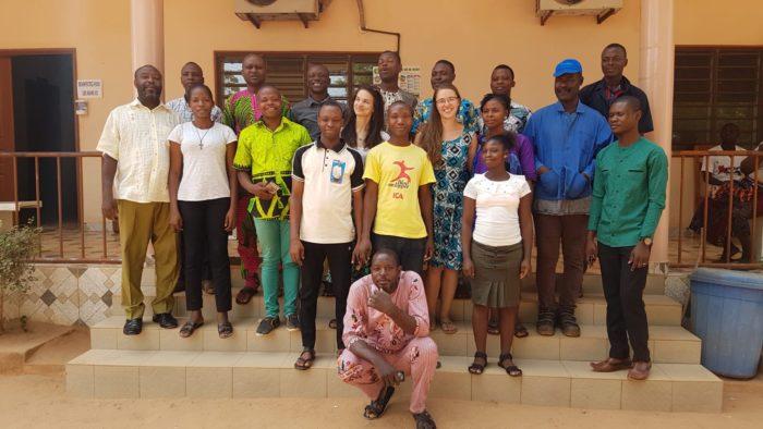 Letztes Gruppenbild mit den Kollegen der ONG ESI